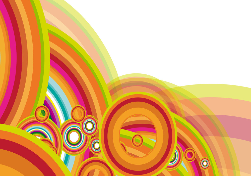 Rainbow Abstract. Vector.