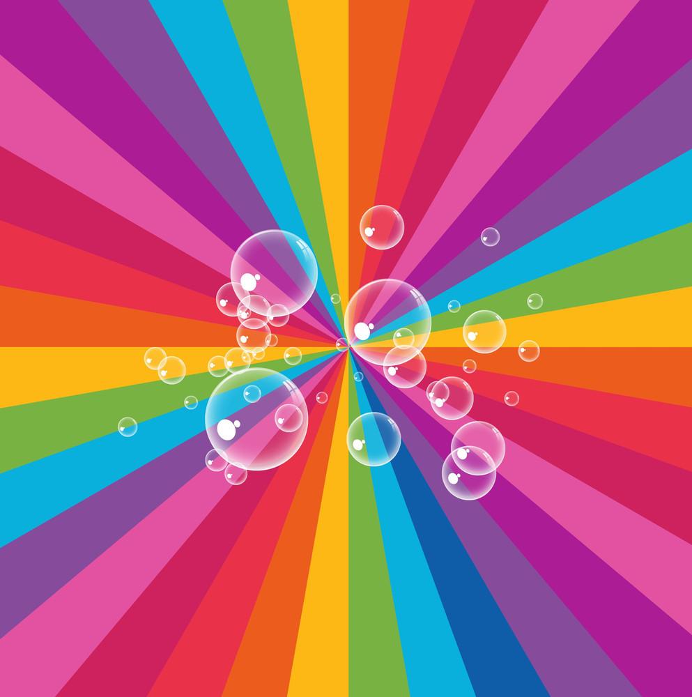 Rainbow Bubbles Background