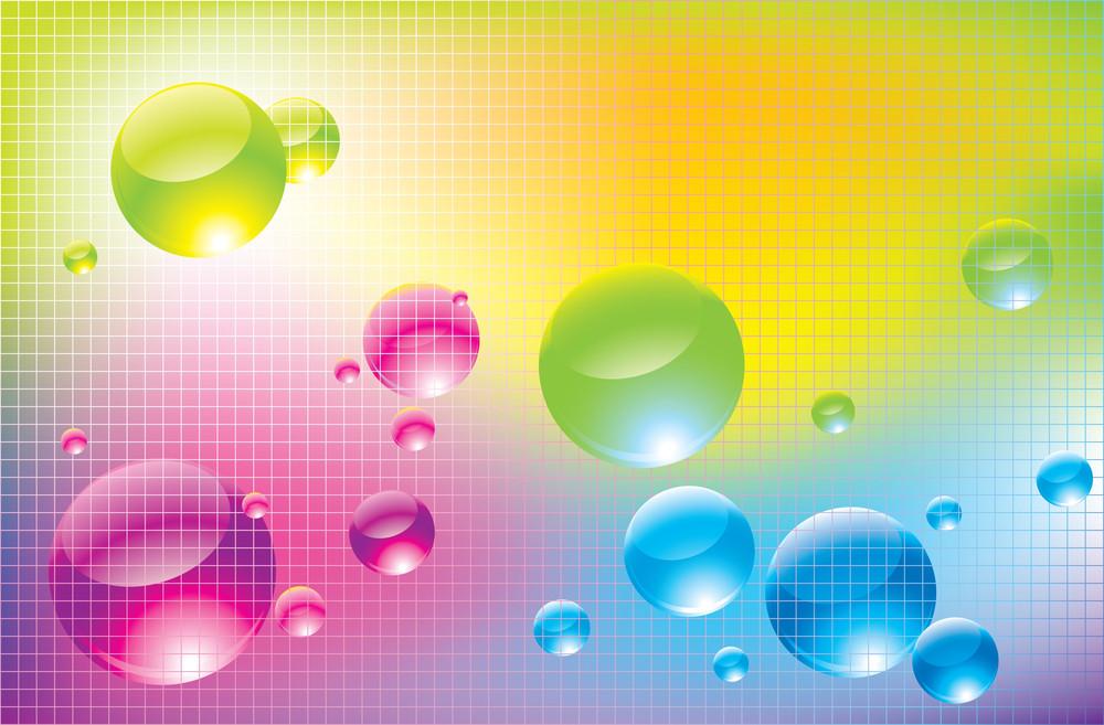 Rainbow Bubbles. Vector Background