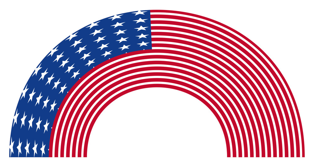 Rainbow Curve Usa Flag