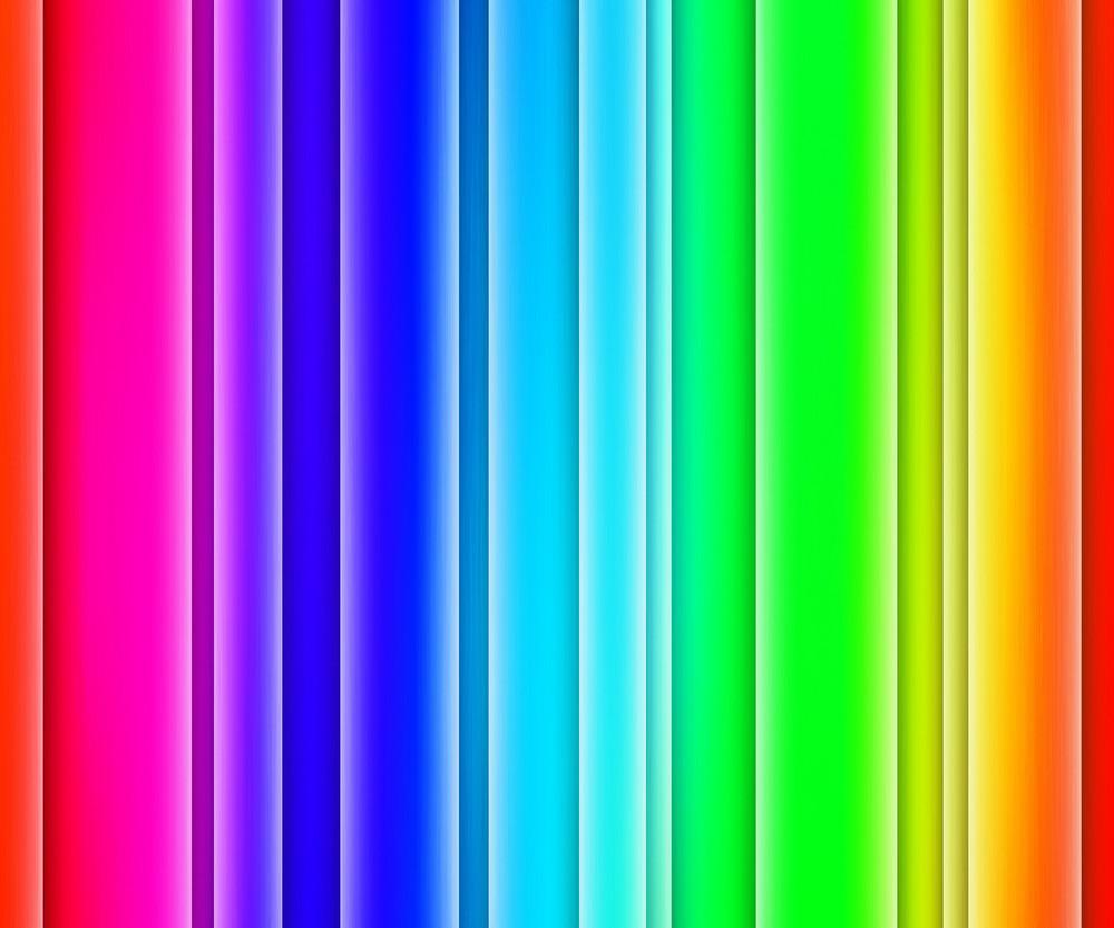 Rainbow Glowing Stripes Background