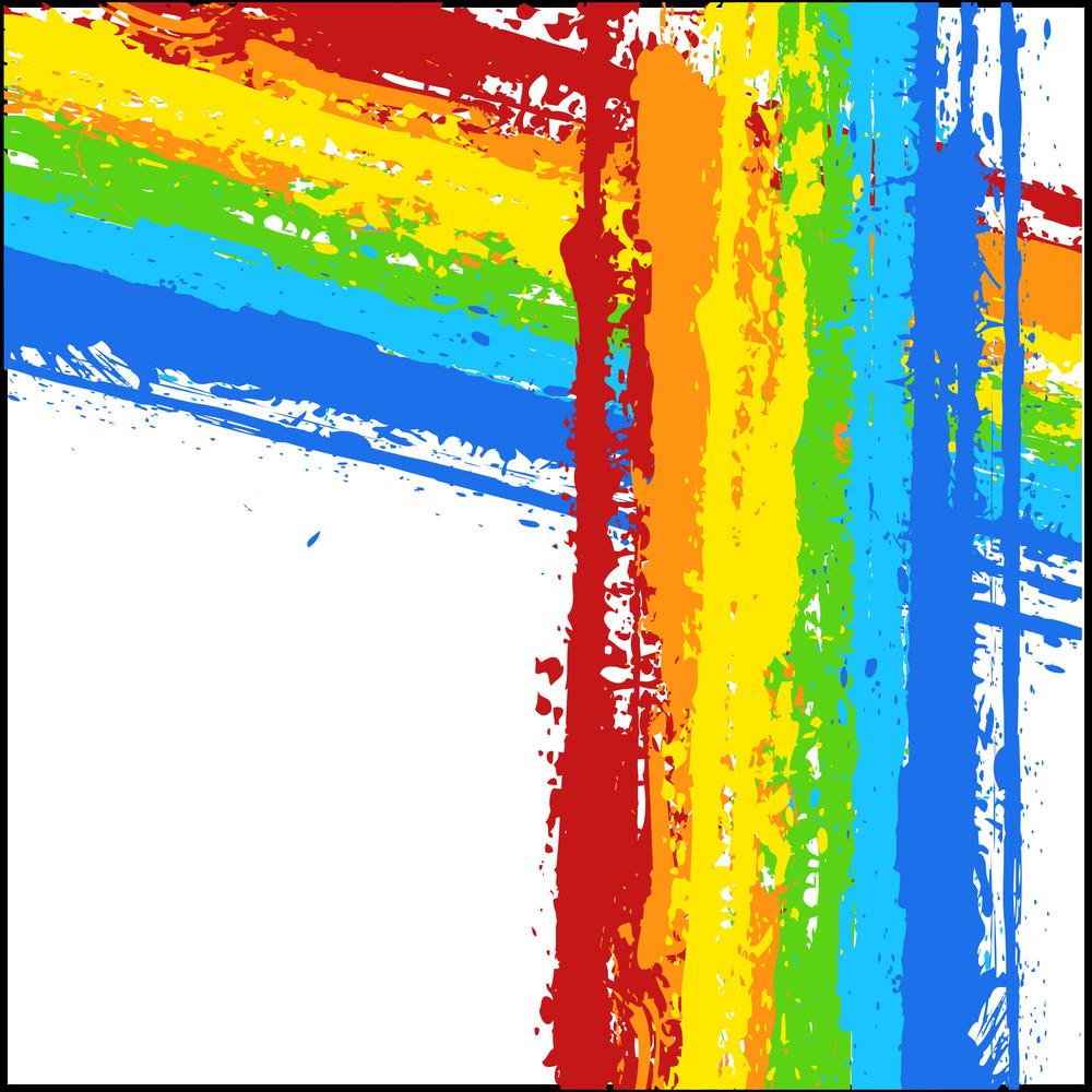 Rainbow Grunge Striped Background