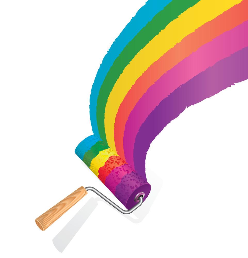 Rainbow Paint Roller.