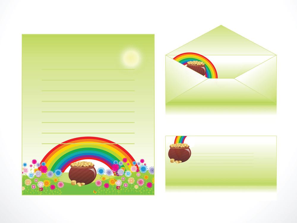 Rainbow Pattern Letterhead