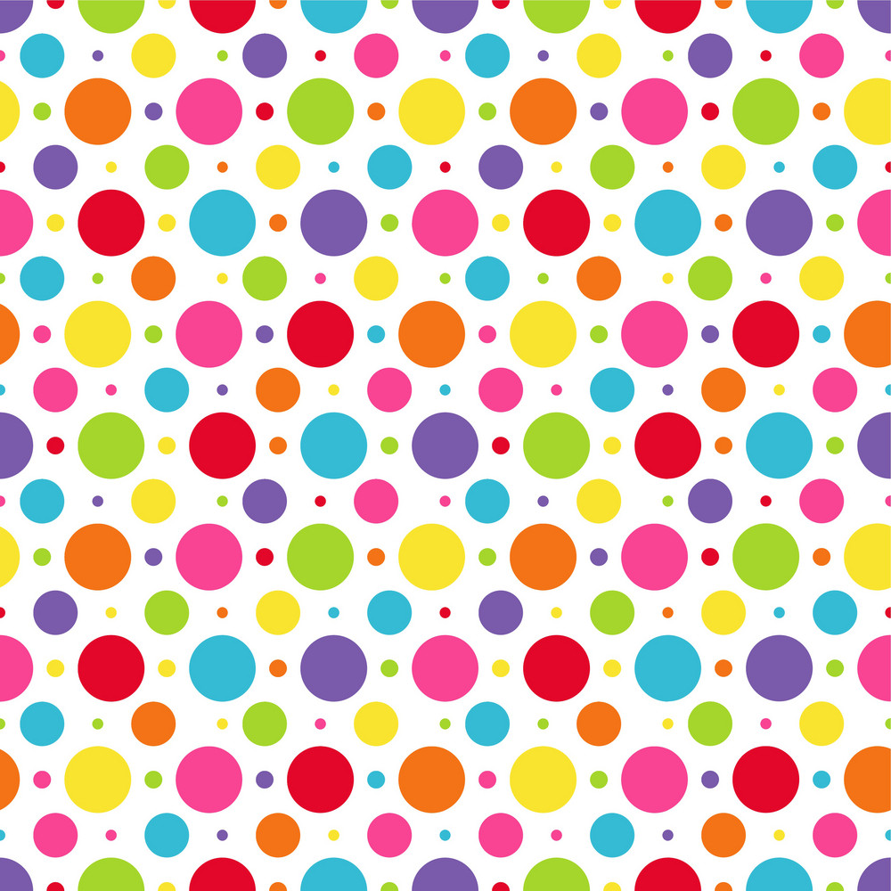 rainbow polka dots pattern royaltyfree stock image