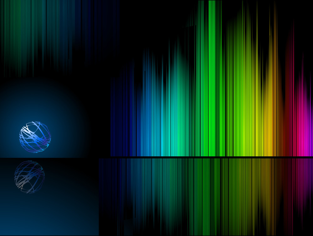 Rainbow Reflection Vector Background.
