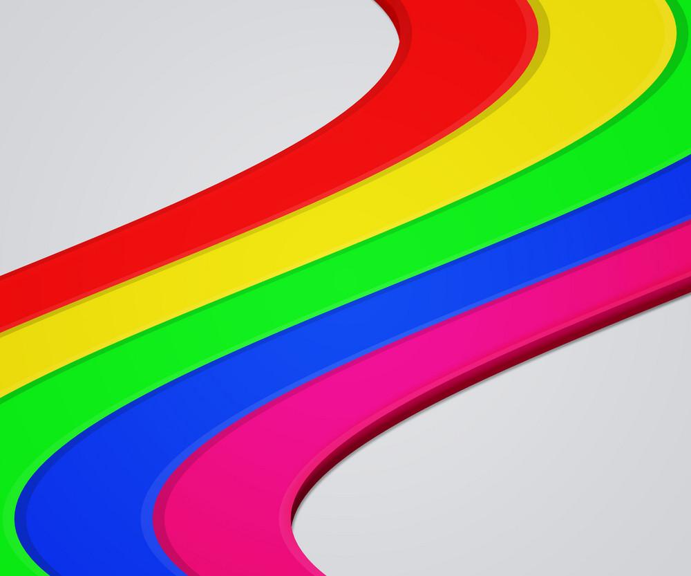 Rainbow Shapes Background