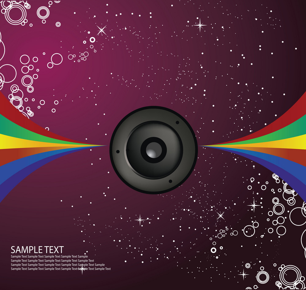 Rainbow Speaker Vector