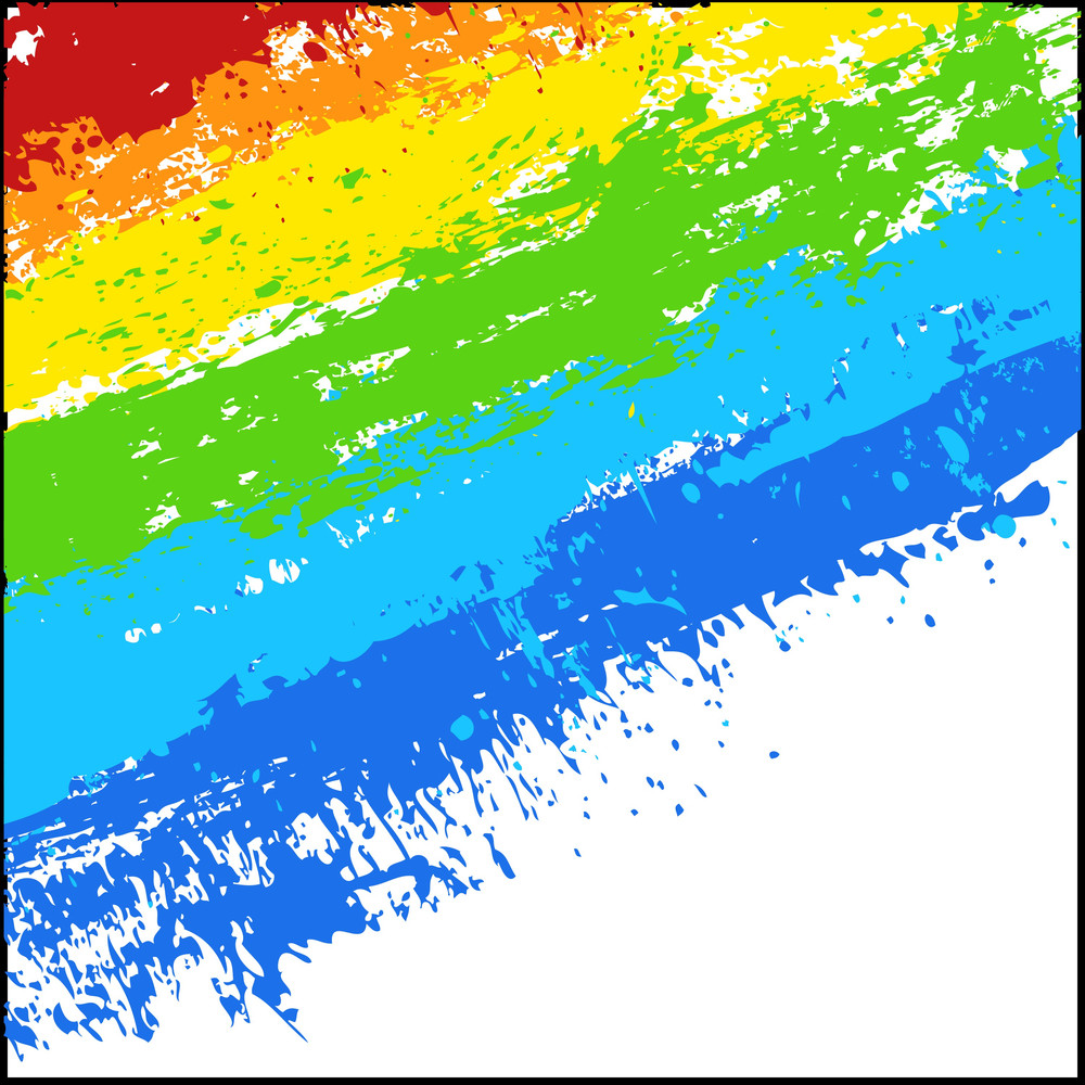 Rainbow Striped Splatter Background