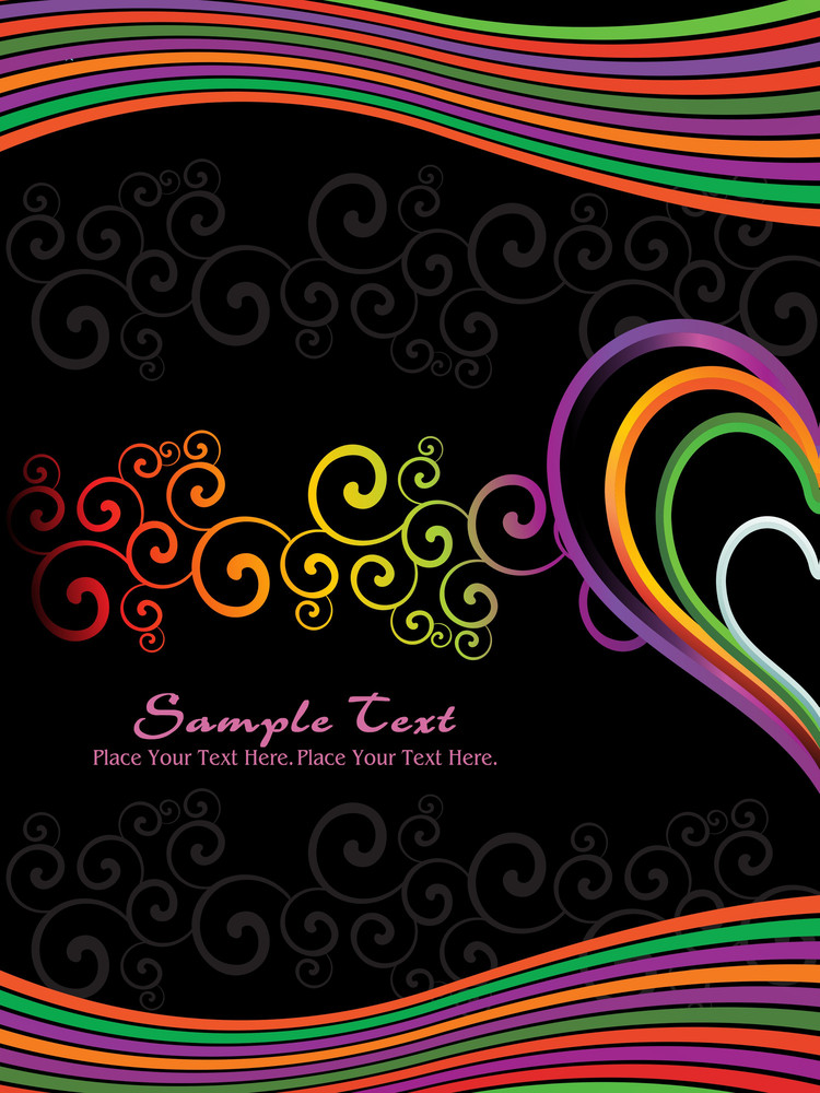 Rainbow Stripes Background With Heart