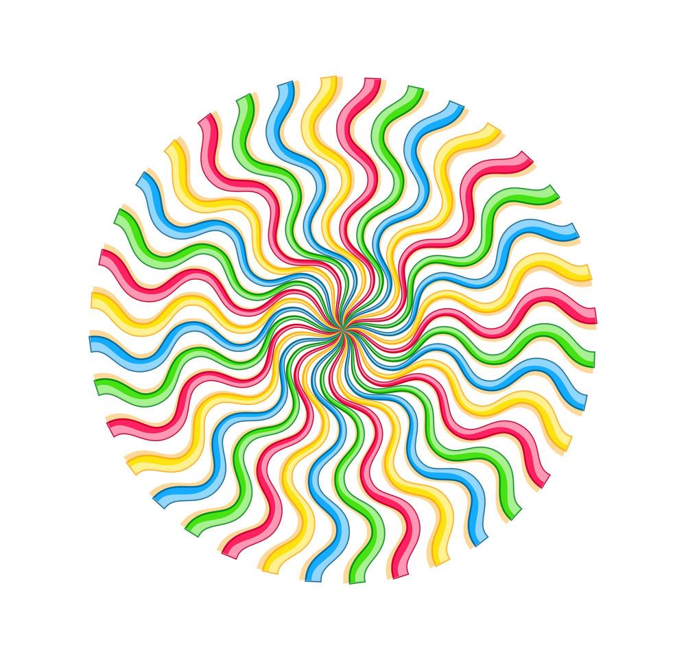 Rainbow Swirl Lines