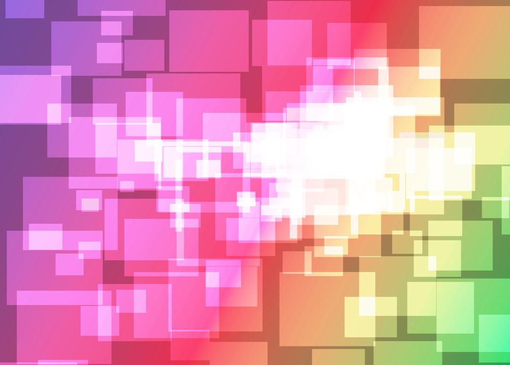 Rainbow Vector Template.