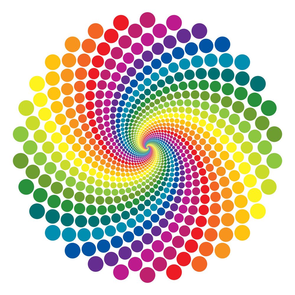 Rainbow Vortex Vector Background.