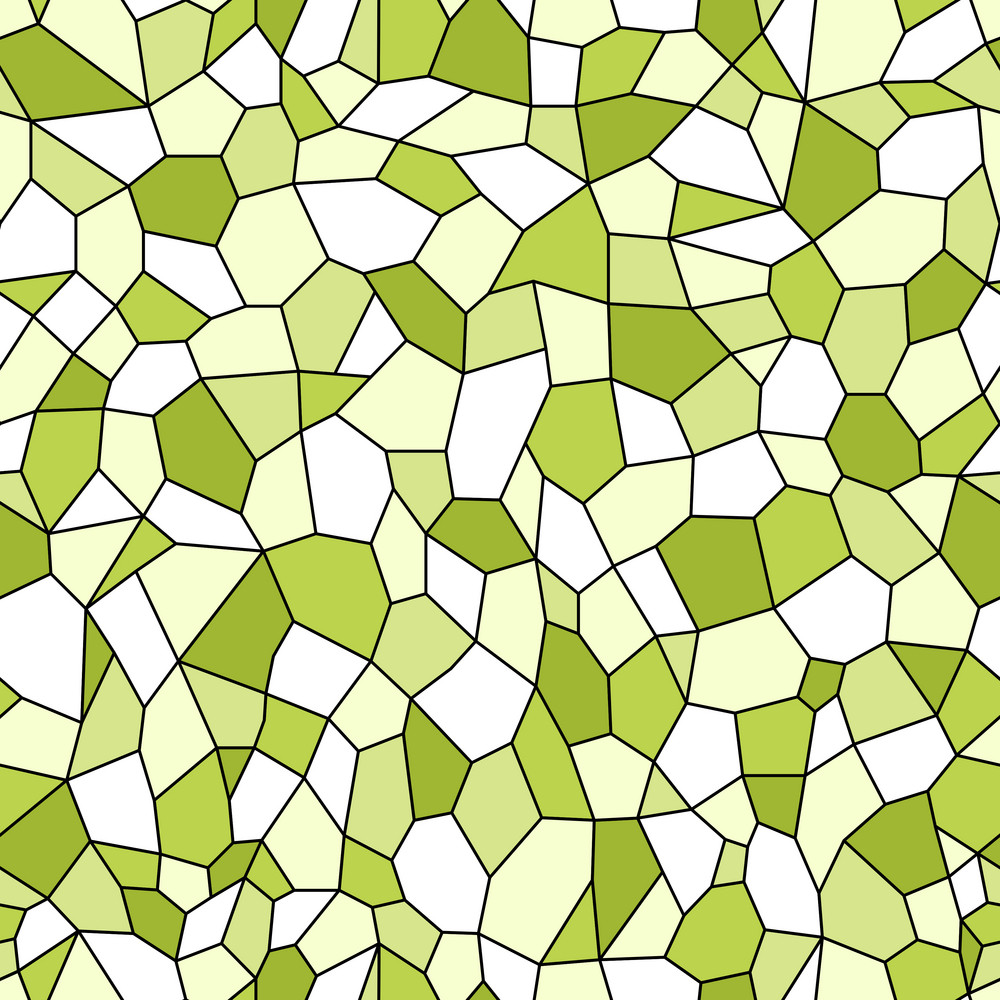 Green And White Mosaic Pattern