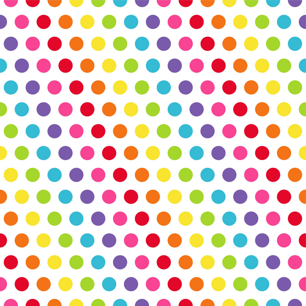 Rainbow Polka Dots Pattern Royalty-Free Stock Image