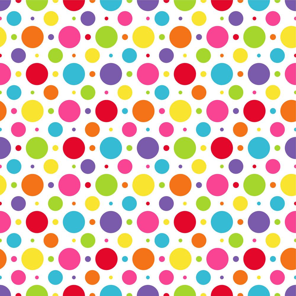 rainbow polka dots pattern royaltyfree stock image
