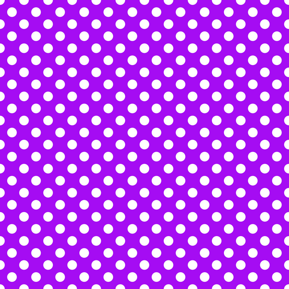white polka dots pattern on a purple background royalty free stock