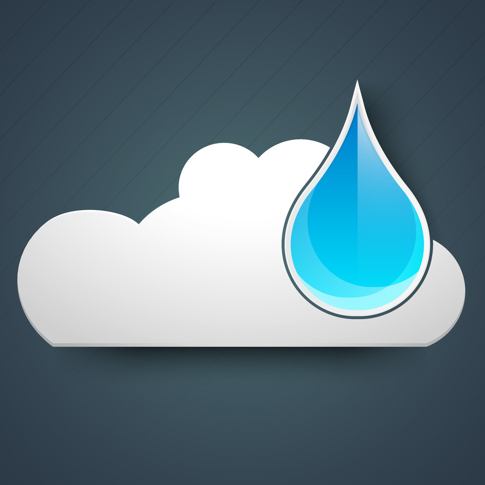 Rainy Season Background With Raindrop And Cloud