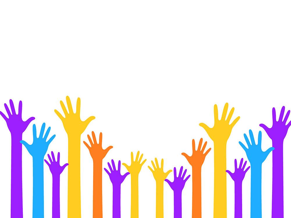 Raising Hands Background