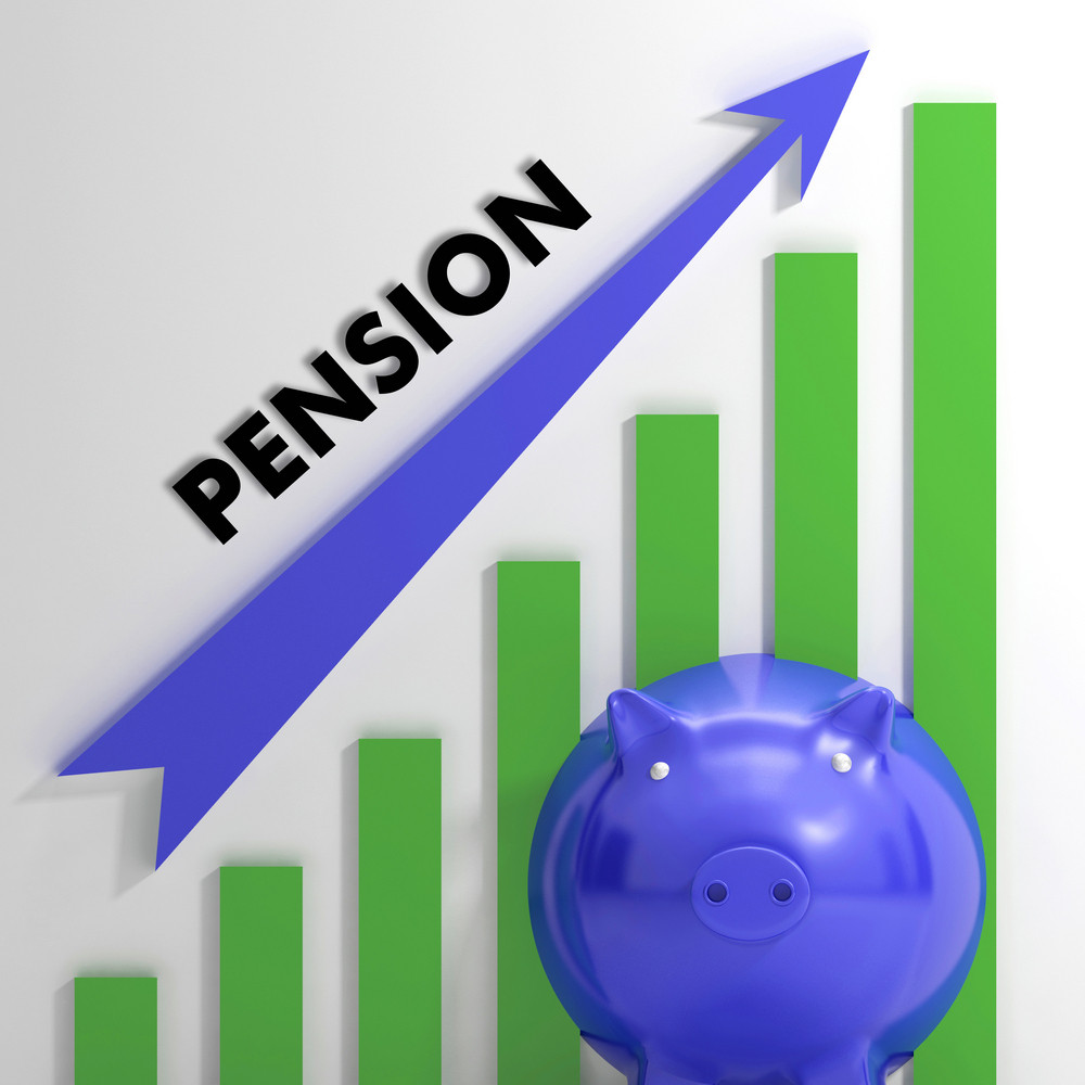 Raising Pension Chart Showing Monetary Growth