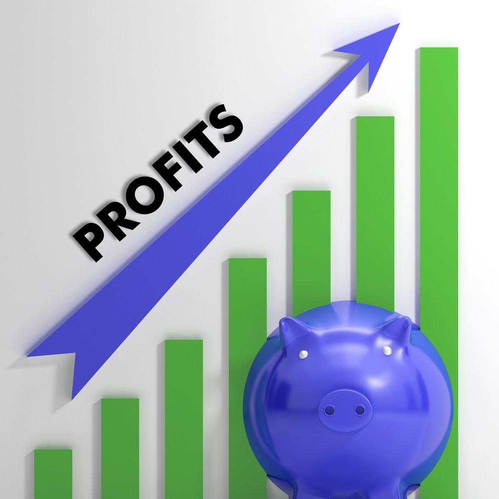 Raising Profits Chart Showing Business Success