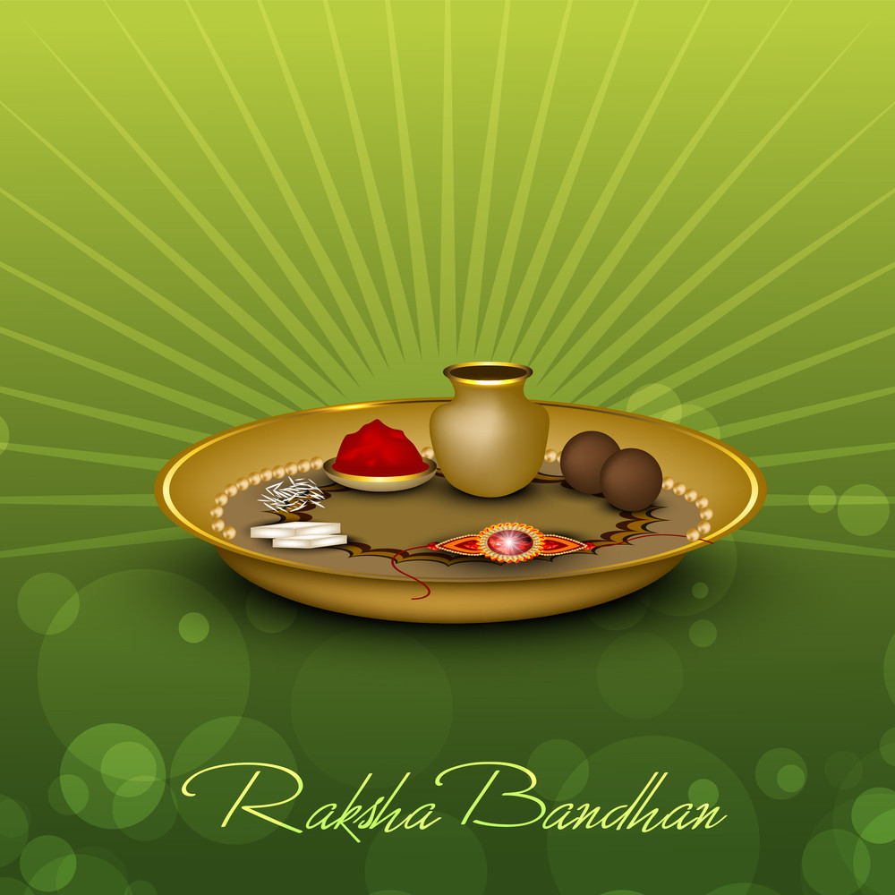 Raksha Bandhan Theme With Rakhi.
