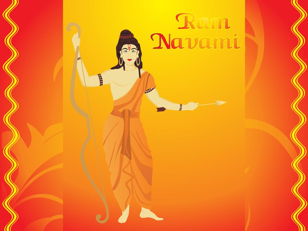 Ramnavami Background With God
