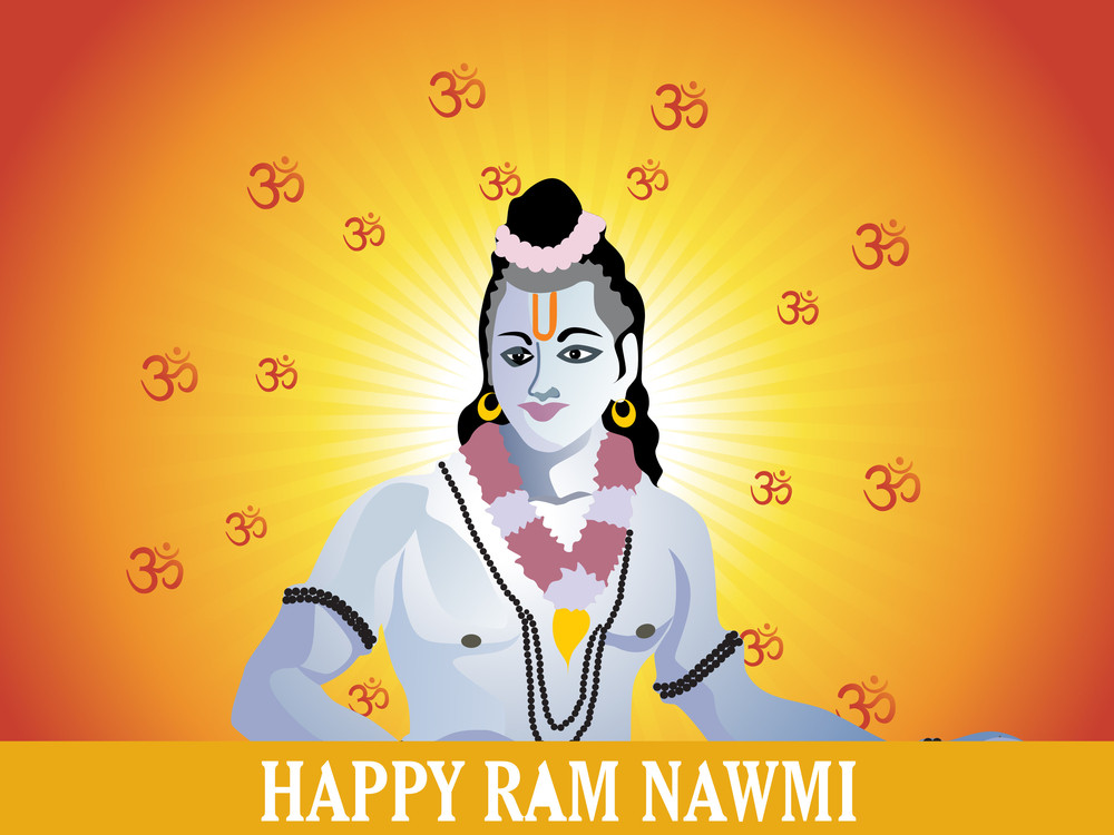 Rays And Om With Lord Rama
