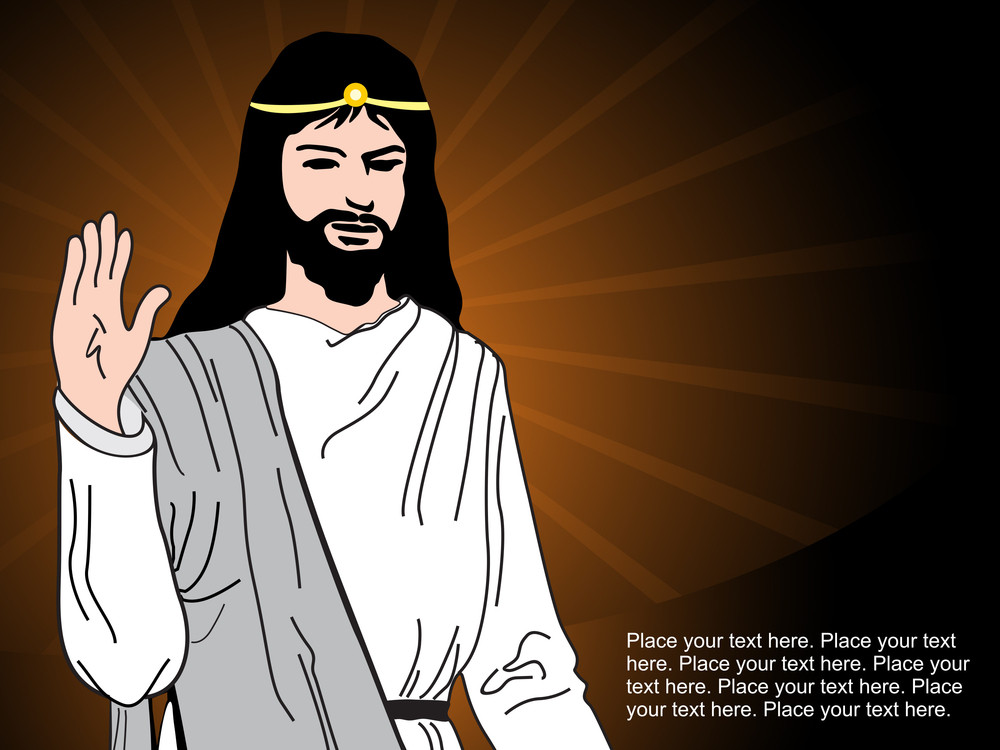 Rays Background With Jesus