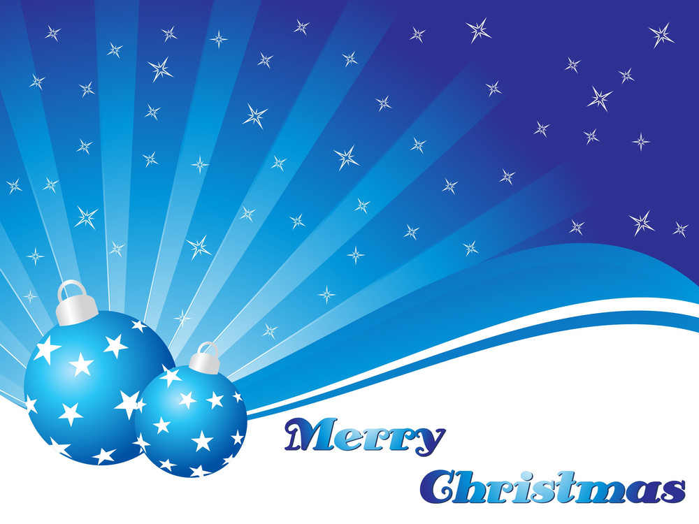 Rays Background With Set Of Xmas Ball