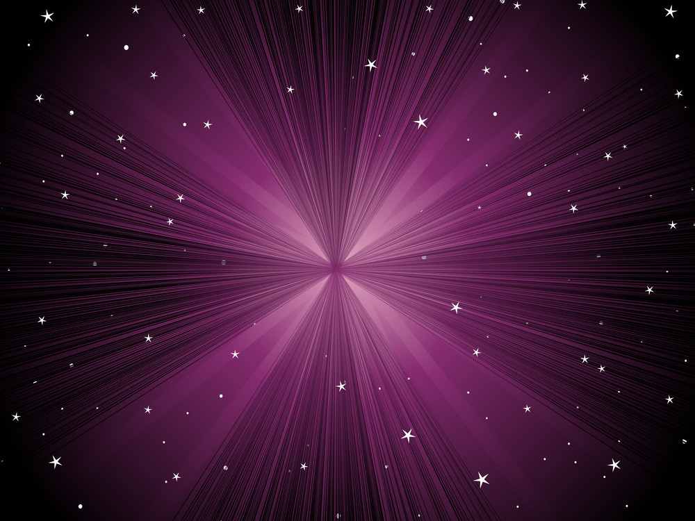 Rays Background With Twinkle Star