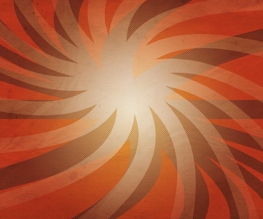 Rays Orange Backdrop