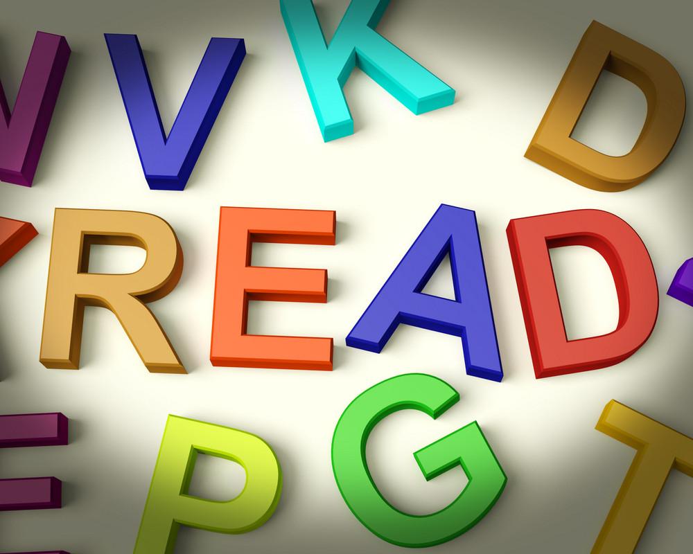 Read Written In Plastic Kids Letters