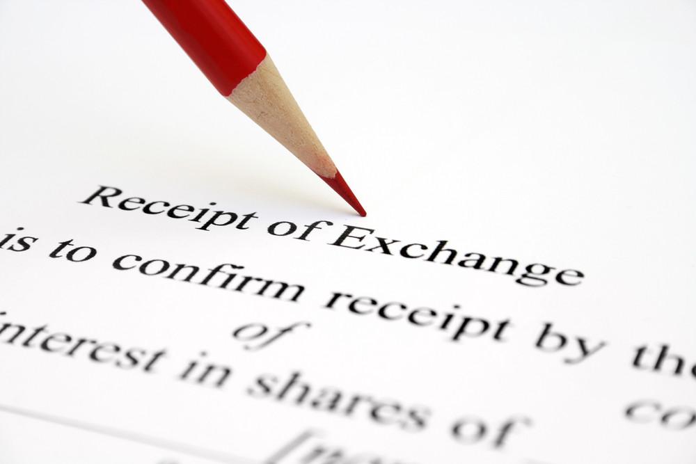 Receipt Of Exchange