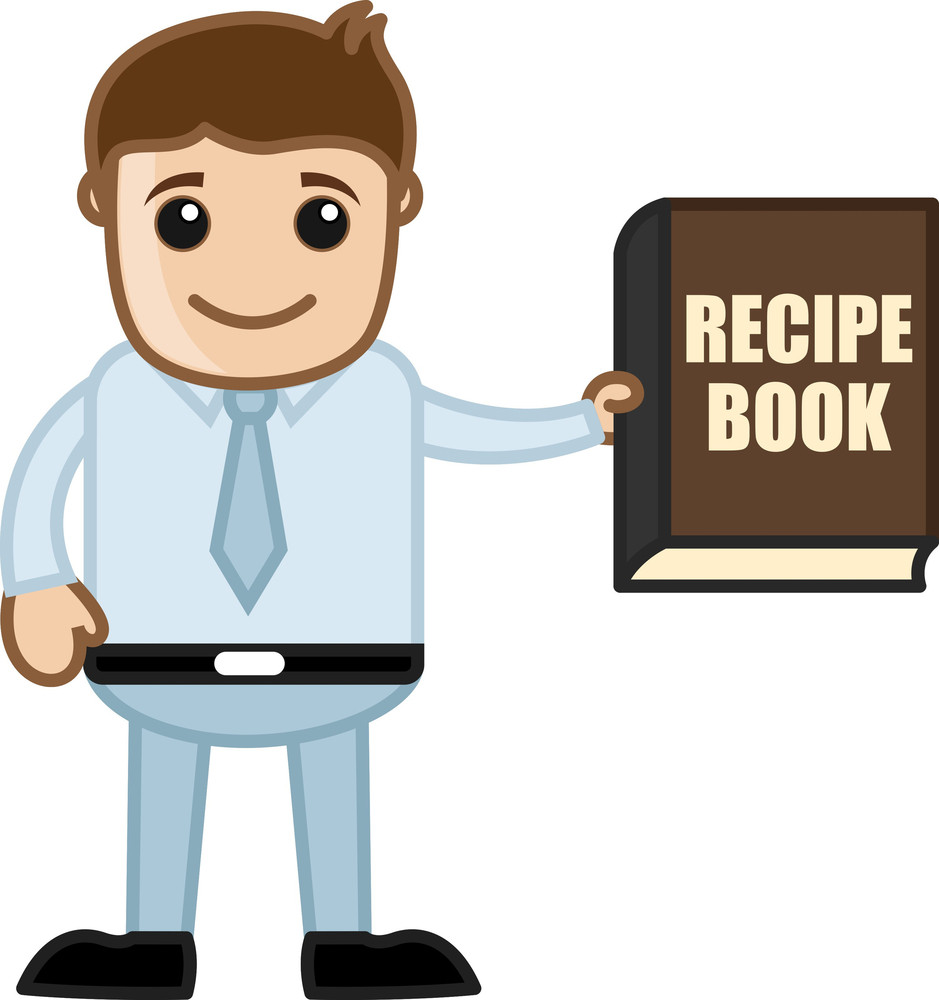 Recipe Book - Learn To Cook - Cartoon Business Vector Character