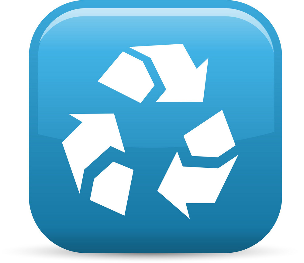 Recycle Elements Glossy Icon