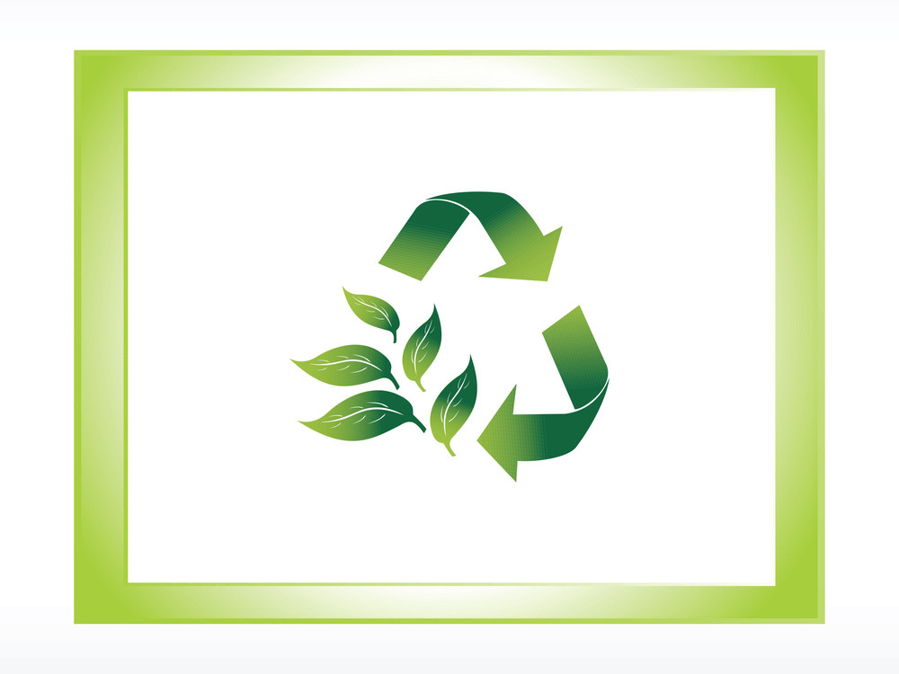 Recycle Logo With Frame