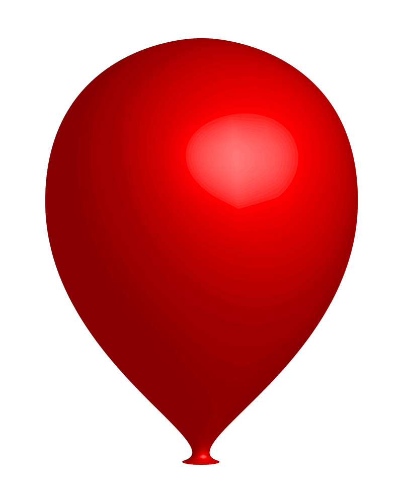 Red 3d Balloon
