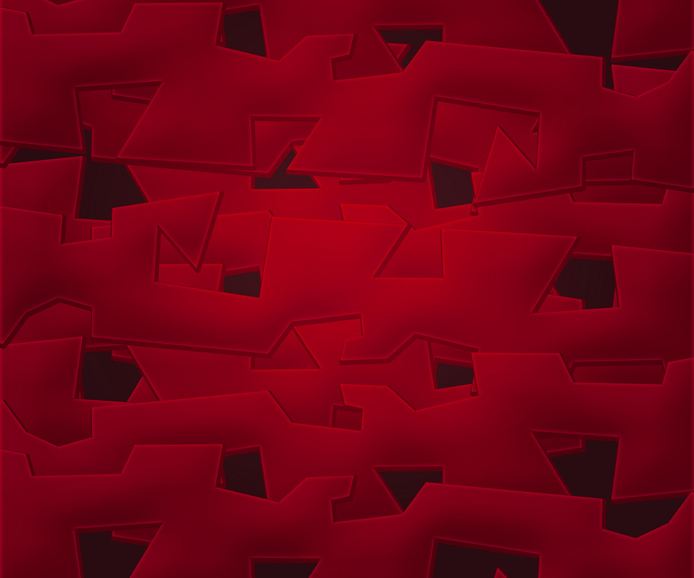 Red Abstract Shapes Background