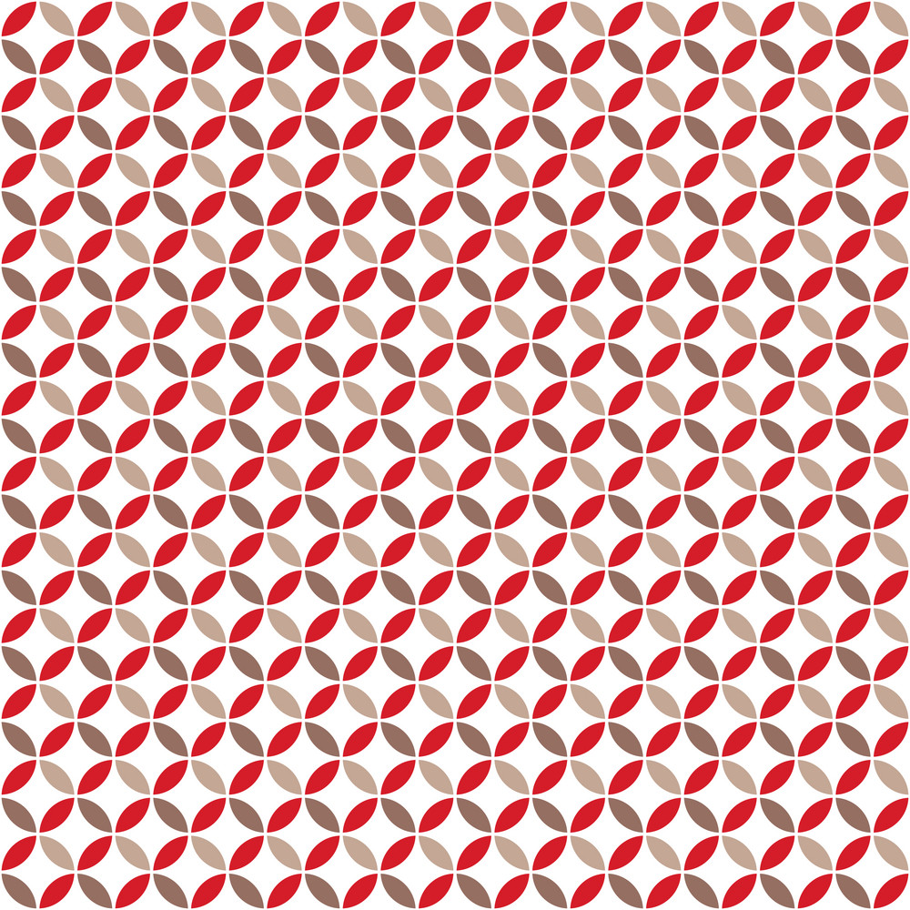 Red And Brown Circles Pattern