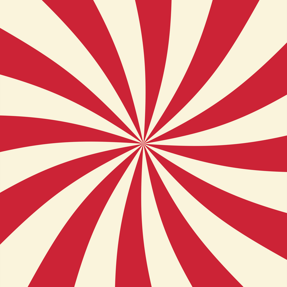 Red And White Swirl Circus Pattern