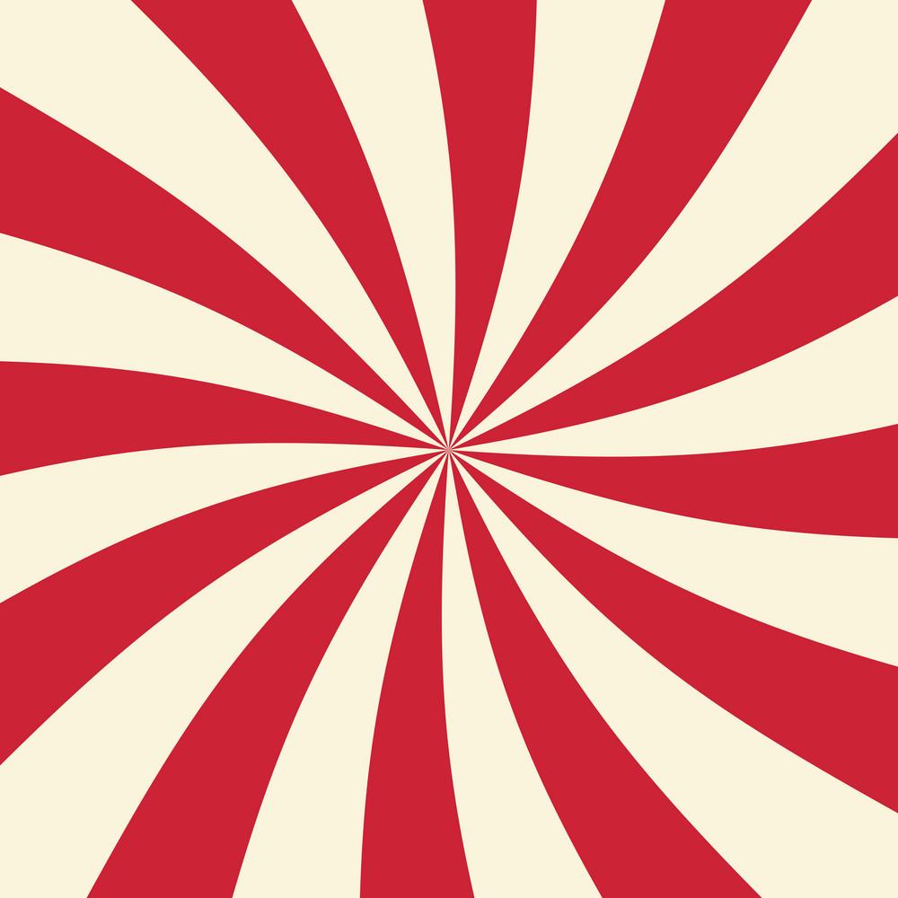Red And White Swirl Circus Pattern