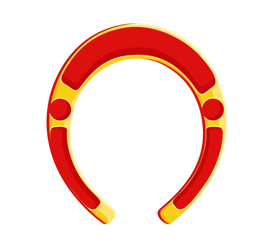 Red And Yellow Horseshoe