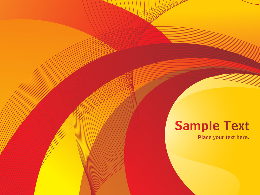 Red And Yellow Wave And Stripes Background
