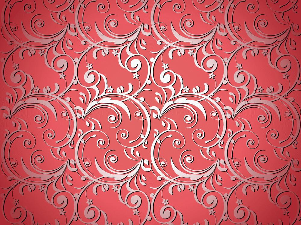 Red Artistic Flower Design Background