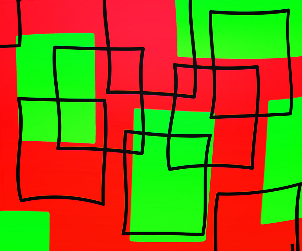 Red Artistic Squares Background