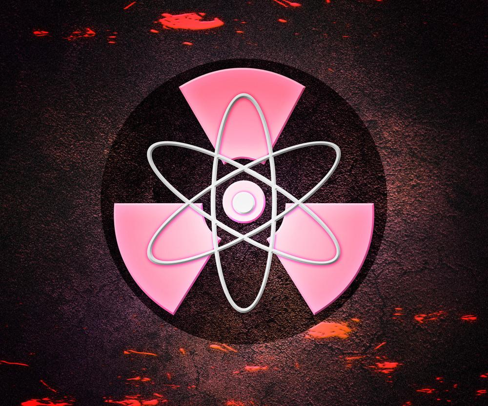Red Atom Radioactive Background
