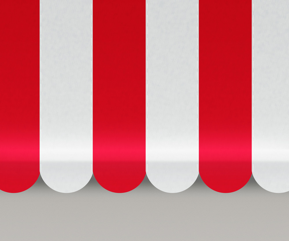 Red Awnings Background