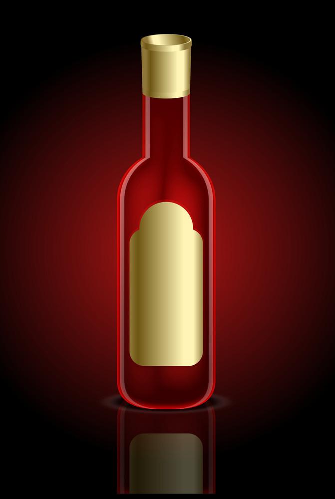 Red Beverage Bottle Vector Illustration