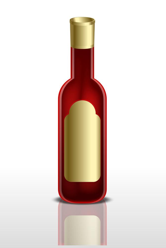 Red Beverage Bottle